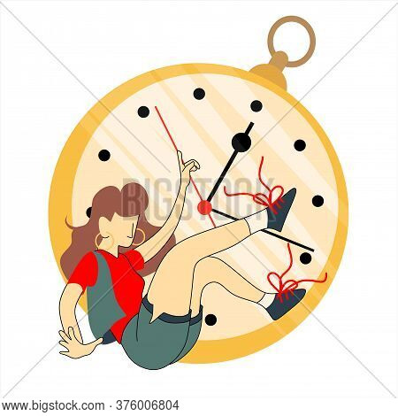 Time Management, Balance Time Line For Work And Personal Life Or Project Management Concept