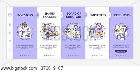 People Involved In Corporation Onboarding Vector Template. Shareholders And Investors. Employees.res
