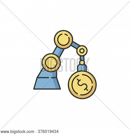 Business Rgb Color Icon. Industrial Production. Financial Operation. Economy And Banking. Factory Au