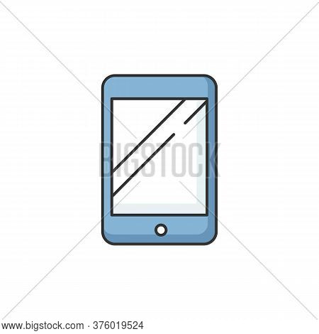 Tablet Rgb Color Icon. Electronic Device. Portable Gadget. Smartphone Screen. Blank Ebook. Empty Tou