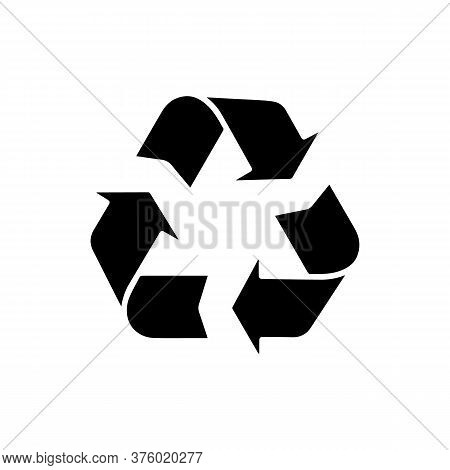 Recycle Symbol Vector Illustration, Recycle Black Color Image, Flat Style, Recycle Web Icon, Recycle