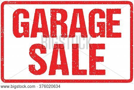 Garage Sale Typography Isolated On White. Rubber Stamp Imitation Effectbest Choice Typography Isolat