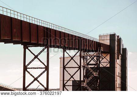 Conveyor Gallery Of Iron Mine Ore Production