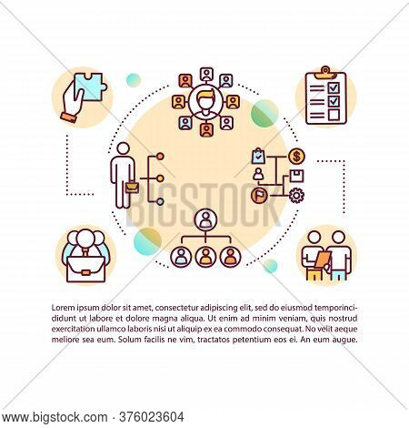 Delegated Management Concept Icon With Text. Ppt Page Vector Template. Empowerment. Employees Decisi