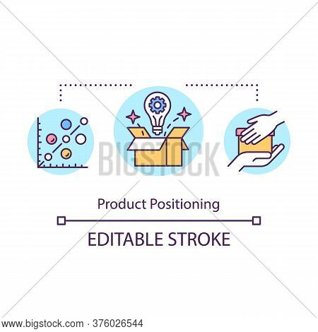 Product Positioning Concept Icon. Merchandise Launch. Sales And Trade. Business Promotion. Product M