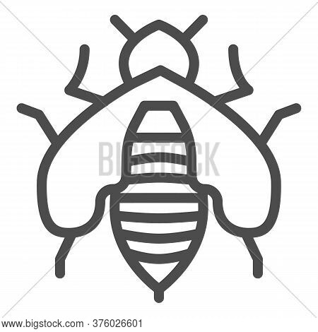 Bee Line Icon, Honey Concept, Honey Bee Sign On White Background, Honeybee Icon In Outline Style For