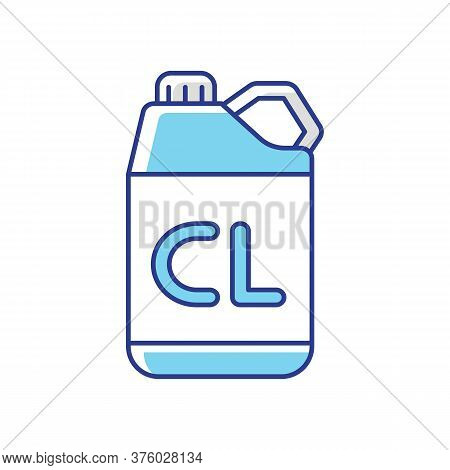 Chlorine Disinfectant Rgb Color Icon. Chemical Detergent, Disinfection Supplies. Sanitary Equipment.