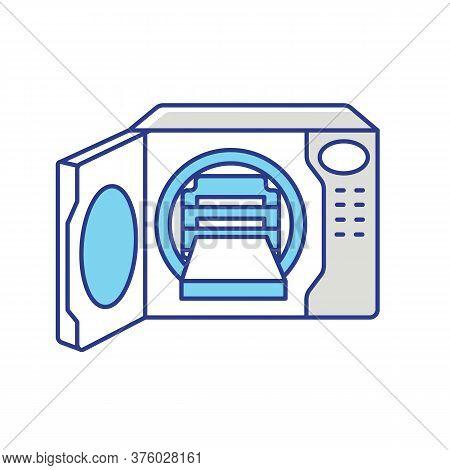 Steam Autoclave Rgb Color Icon. Professional Sterilization Equipment, Industrial Disinfection. Decon