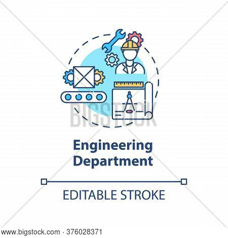 Engineering Department Concept Icon. Technical Production. Professional Service. Product Management