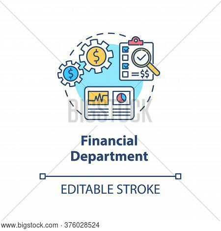 Financial Department Concept Icon. Commercial Plan For Company. Business Development. Product Manage