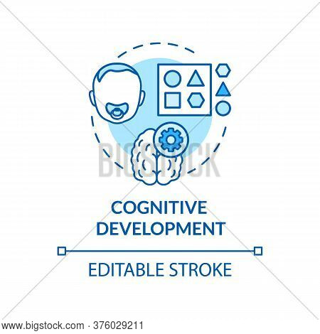 Toddlers Cognition Concept Icon. Infant Cognitive Activities. Day Care Center. Baby Cognitive Develo