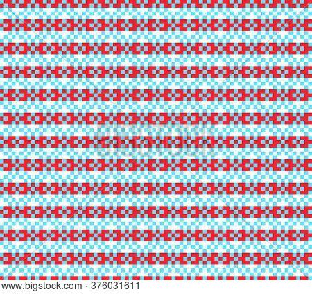 Orange Christmas Fair Isle Seamless Pattern Background
