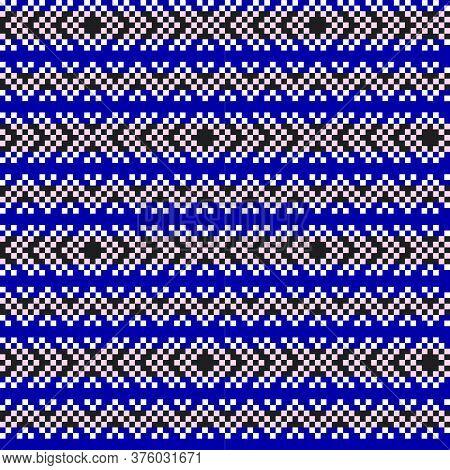 Pink Navy Christmas Fair Isle Seamless Pattern Background