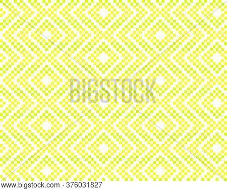 Yellow Christmas Fair Isle Seamless Pattern Background