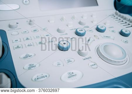 Ultrasound Equipment. Diagnostics And Sonography. Modern Medical Device.