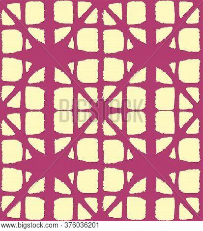 Japanese Tie Dye Seamless Pattern. Elegant Kimono Textile. Bohemian Geometric Asian Tie Dye Pattern.