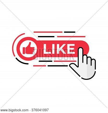 Like. Like icon. Like vector. Like icon vector. Like illustration. Like logo template. Like button. Like symbol. Like sign. Like icon design. Thumb up icon. Thumb up vector. Like vector icon flat design for web icons, logo, symbol, app, UI.