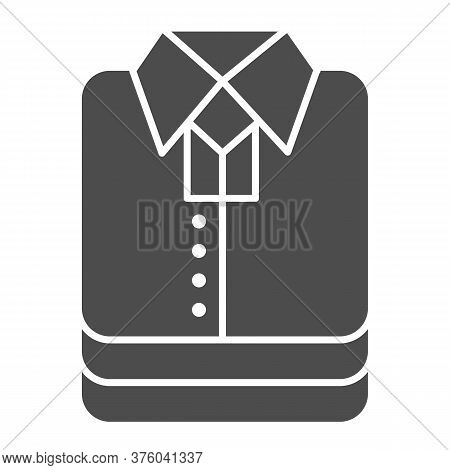 Shirt Stack Solid Icon, Shopping Concept, Stacked Folded Clothes Sign On White Background, Stack Of
