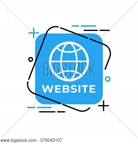 Website, Website icon, Website vector, WWW icon vector, Website logo, Website symbol, Website sign, Website WWW icon, Web design. Website vector flat icon symbol for website, logo, app, UI. Website icon isolated on white background.