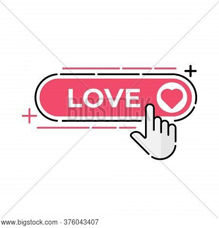 Love. Love icon. Love vector. Love icon vector. Love icon eps. Love icon illustration. Love logo template. Love button vector. Love symbol. Love sign. Love icon design. Love vector icon flat design for web icons, logo, symbol, banner, app, UI.