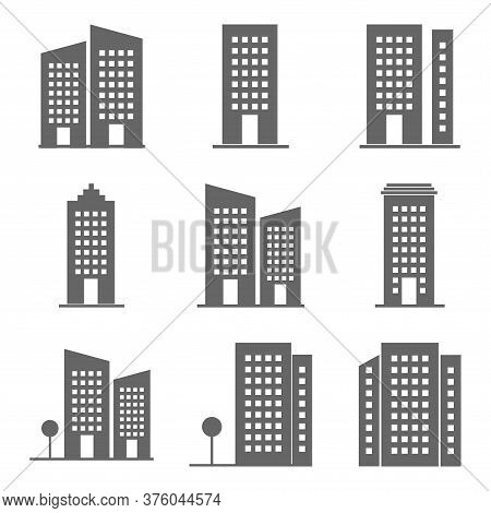 Set Of Buildings Icon Isolated On White Background. Buildings Icon Collection Trendy And Modern Buil