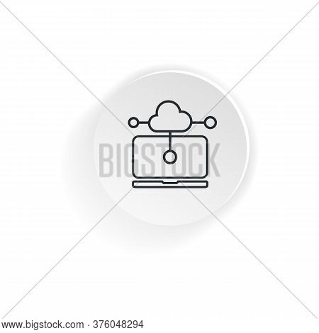 Vpn Protection. Intranet Icon. Laptop Connected To Protected Vpn Server. Vector On A White Backgroun