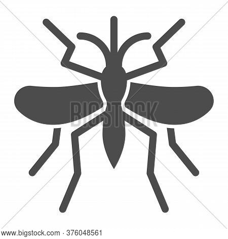 Mosquito Solid Icon, Insects Concept, Gnat And Pest Sign On White Background, Mosquito Insect Icon I