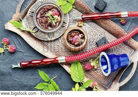 Turkish Hookah With Raspberries