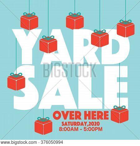 Yard Sale Campaign Promotion Sale Banner, Drive Sales Concept Vector Illustration. Eps 10