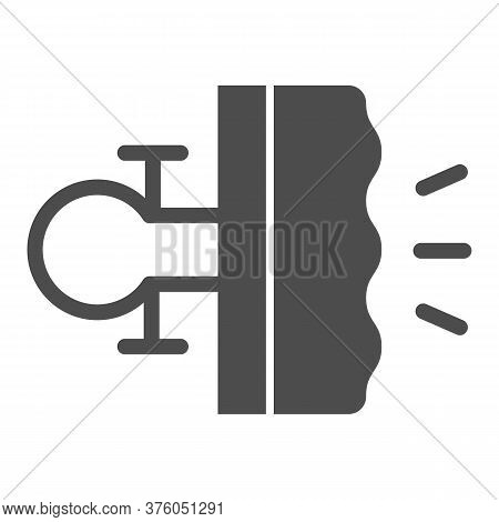 Bike Brake Solid Icon, Bicycle Concept, Bike Detail Sign On White Background, Bicycle Brakes Icon In
