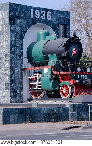Russia, Khabarovsk, 22 October 2013: The Locomotive Depot Khabarovsk, A Monument To The Steam Locomo