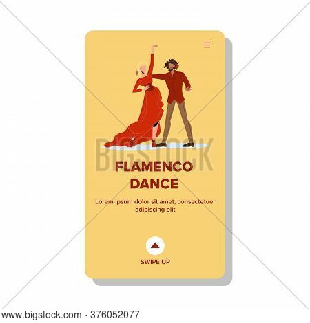 Flamenco Dance Dancing Couple Boy And Girl Vector