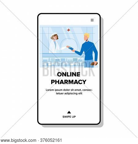 Online Pharmacy Shop For Buy Medicaments Vector