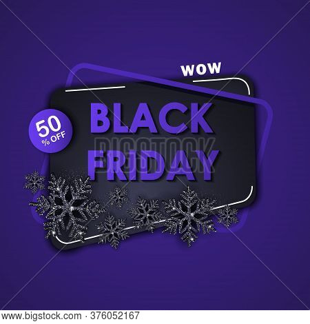 Black friday sale background with black shiny snowflakes. Christmas. Christmas Vector. Christmas Background. Merry Christmas Vector. Merry Christmas banner. Christmas illustrations. Merry Christmas Holidays. Merry Christmas and Happy New Year Vector Backg