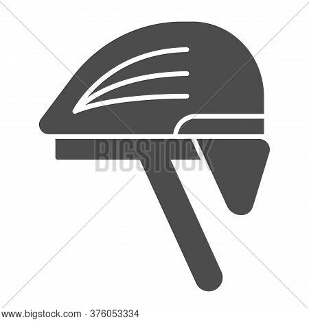 Cyclist Helmet Solid Icon, Cyclist Equipment Concept, Bike Protective Hat Sign On White Background,