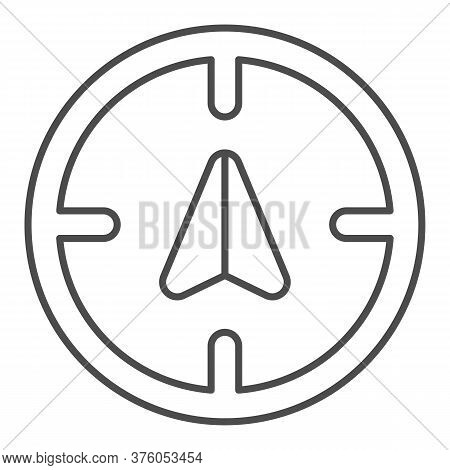 Arrow Gps With Target Thin Line Icon, Navigation Concept, Position Sign On White Background, Gps Nav