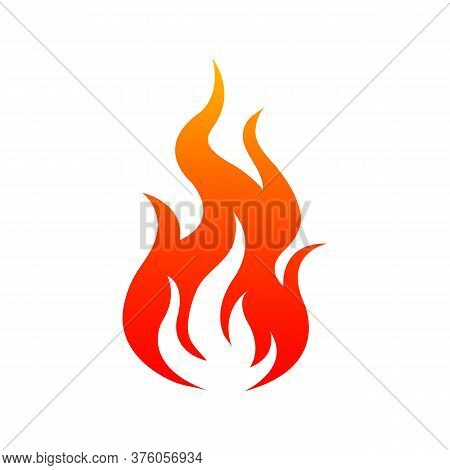 Flaming Fire Isolated Icon. Vector Burning Bonfire Or Campfire, Hot Ignite Symbol