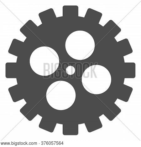 Bike Gear Solid Icon, Bicycle Details Concept, Bicycle Crank Sign On White Background, Bicycle Gear