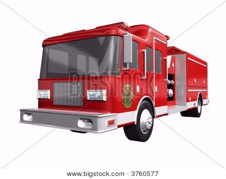 Fire Truck On White