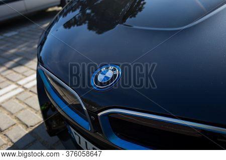 Barcelona, Spain - January 12, 2019: A Bmw I8 Electric Sportscar.