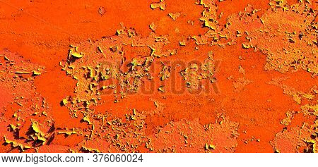 Lush Lava Texture. Metal For Background, Copy Space And Design. Trendy Color. Abstract Iron Surface.