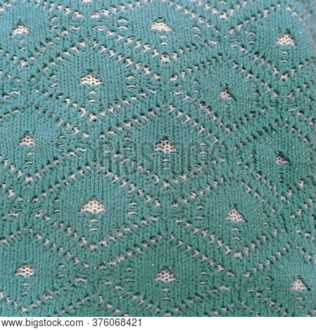 Knitted Pattern Of Woolen Cloth, Openwork Pattern Texture, Seasonal Clothes For Autumn And Winter