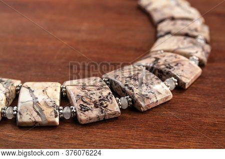 Necklace Made Of Ural Jasper