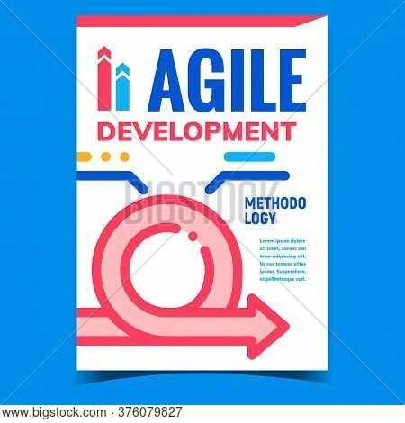 Agile Development Creative Promo Poster Vector. Development Methodology, Business Strategy, Manageme