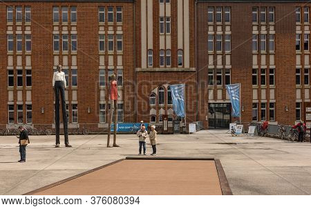 Public Library, Central Library In Downtown Hamburg, Germany