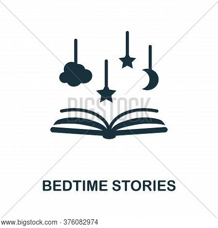 Bedtime Stories Icon. Simple Element From Well Sleep Collection. Creative Bedtime Stories Icon For W