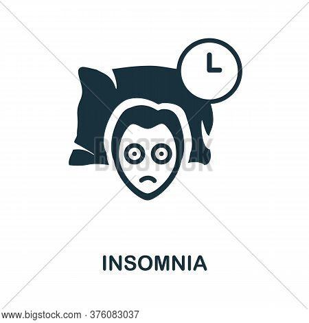 Insomnia Icon. Simple Element From Well Sleep Collection. Creative Insomnia Icon For Web Design, Tem