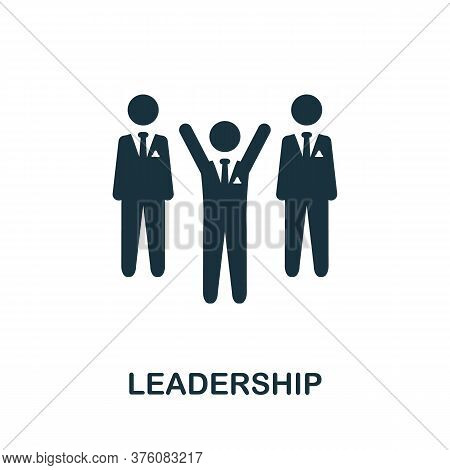 Leadership Icon. Simple Element From Business Management Collection. Creative Leadership Icon For We