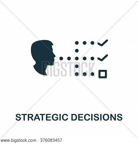 Strategic Decisions Icon. Simple Element From Business Management Collection. Creative Strategic Dec