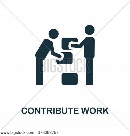 Contribute Work Icon. Simple Element From Business Management Collection. Creative Contribute Work I